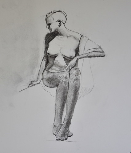 long pose charcoal figure drawing