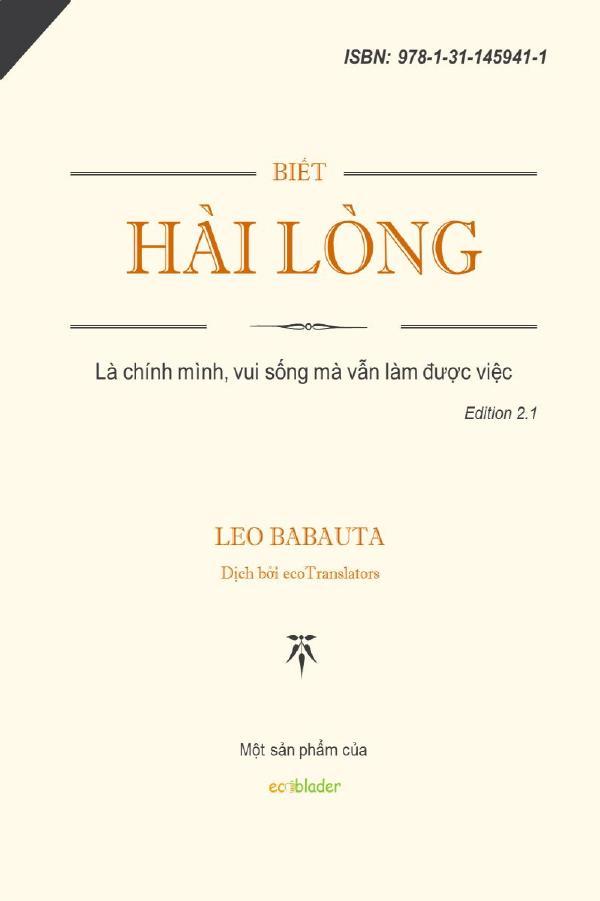 Biết Hài Lòng - Leo Babauta