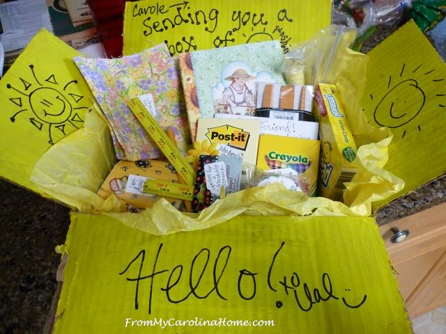 Val's Sunshine Box at From My Carolina Home