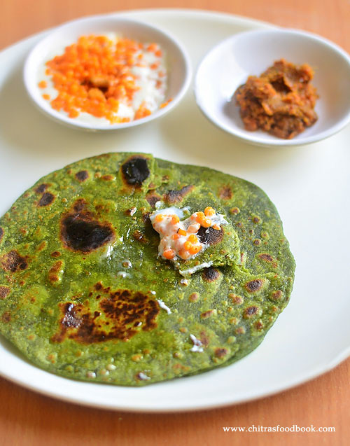 Palak chapathi recipe