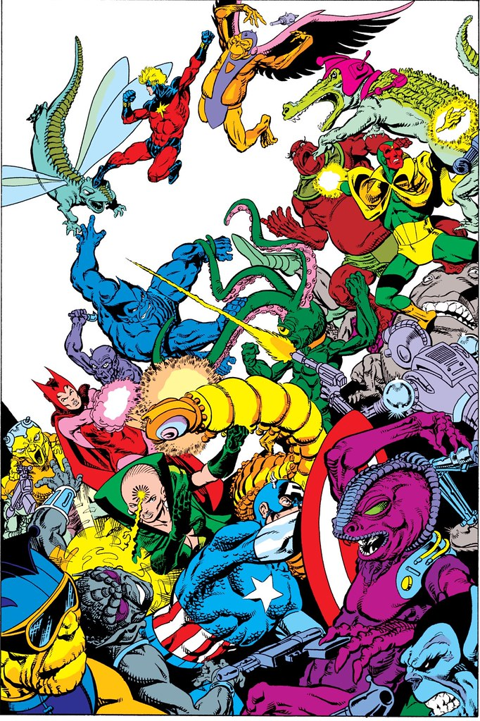 Avengers Annual 7 splash by Starlin Rubinstein