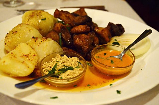 Gofio served with main course, La Gomera