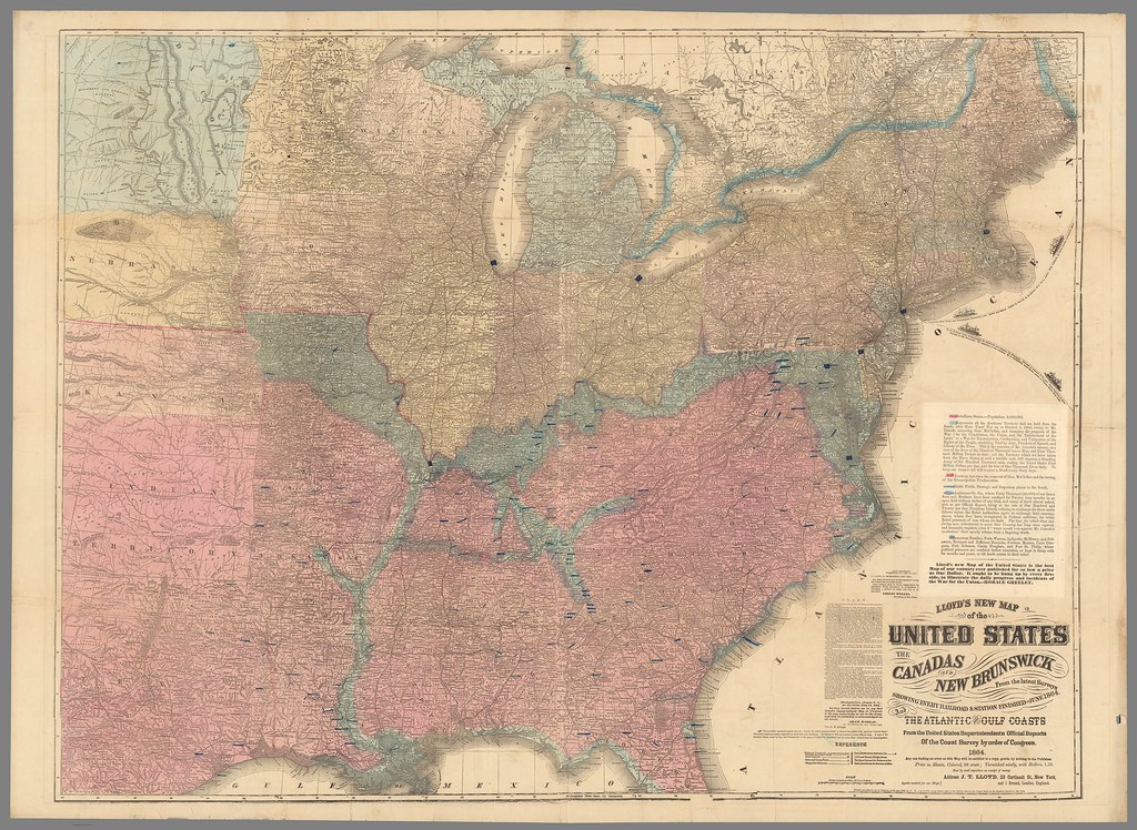 Lloyd's New Map of the United States (1864)