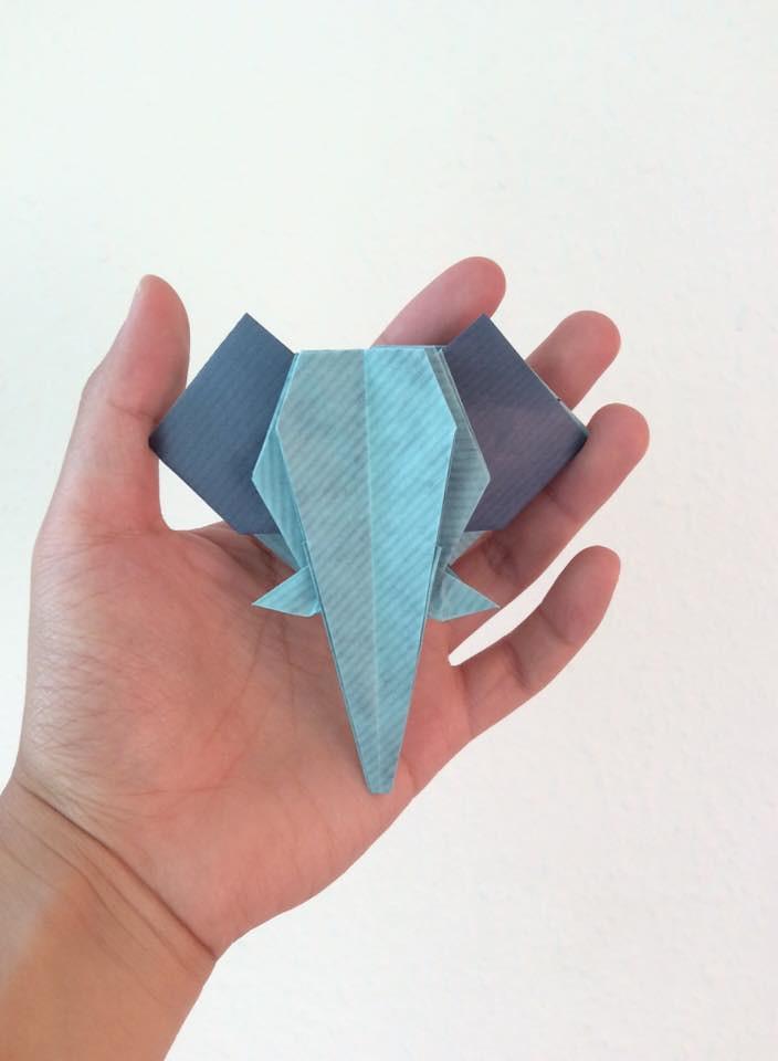 Origami Elephant Bookmark Anh Dao Origami Elephant Bookm Flickr