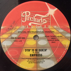 EMPREES:DYIN' TO BE DANCIN'(LABEL SIDE-B)