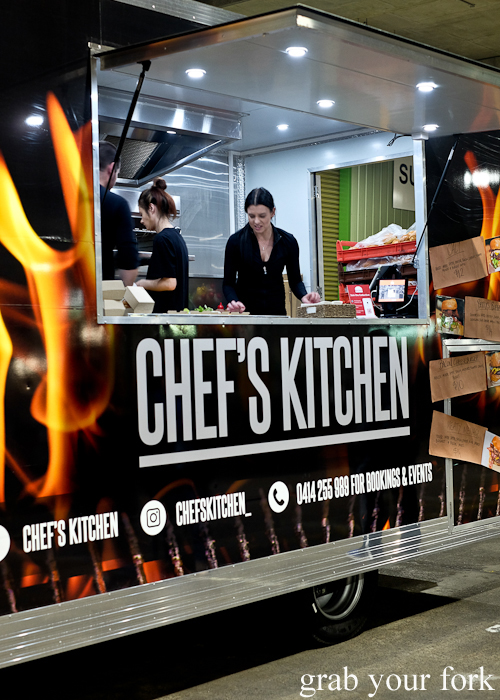 Chef's Kitchen food truck at Paddy's Night Food Markets on Saturday nights at Flemington