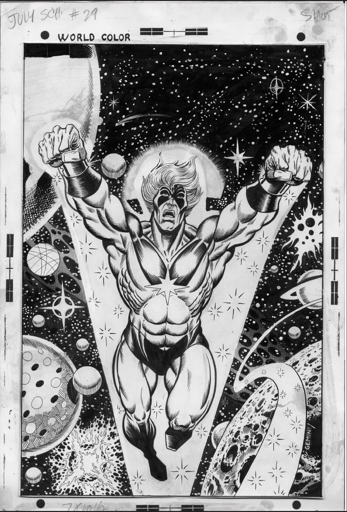 Captain Marvel 31 original artwork