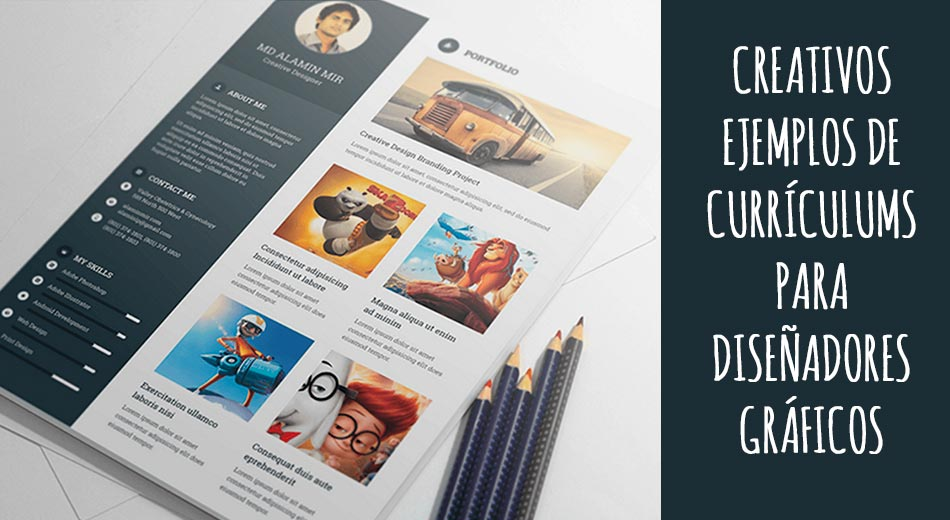 Creativos Ejemplos De Curriculums Para Disenadores Graficos