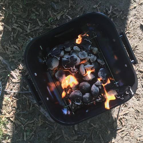 Hot coals!