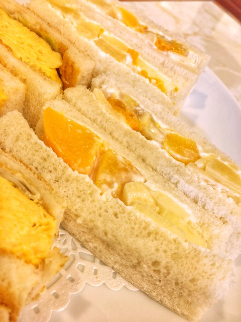 Hamanoya parlor fruits sandwich