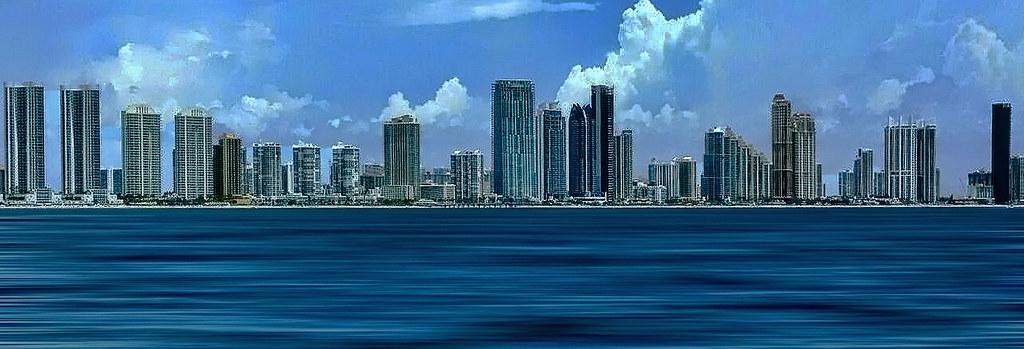 The Skyline Of Sunny Isles Beach Miami Dade County Flori