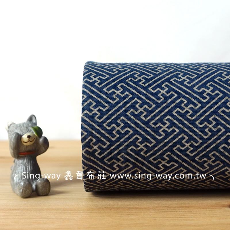 大迷宮拔染布(大特價) 簡約文青古典 禪風 手工藝DIy拼布布料 CF650005