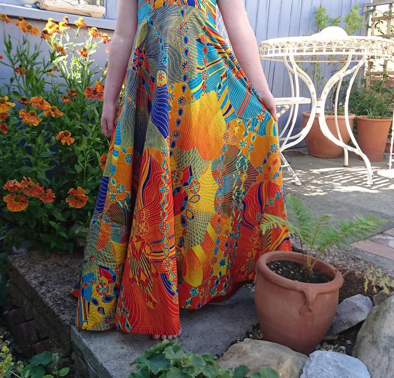 African wax print maxi dress, lil luxe dress
