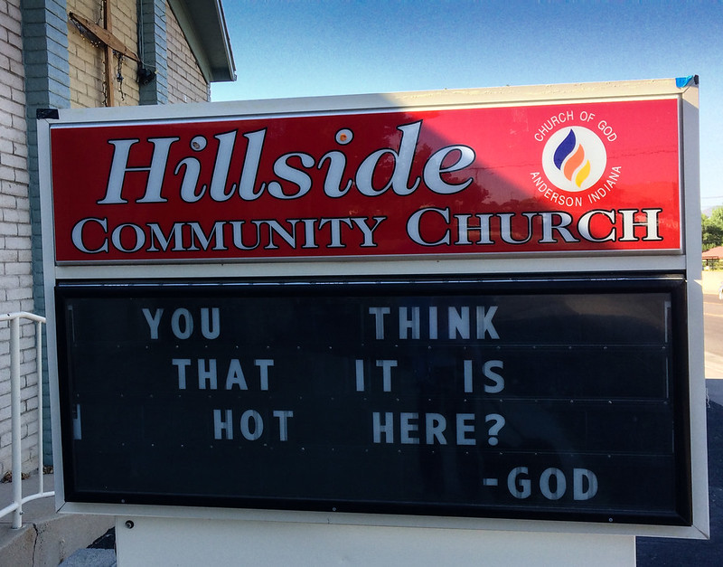 Church message on the 2017 Az heat wave