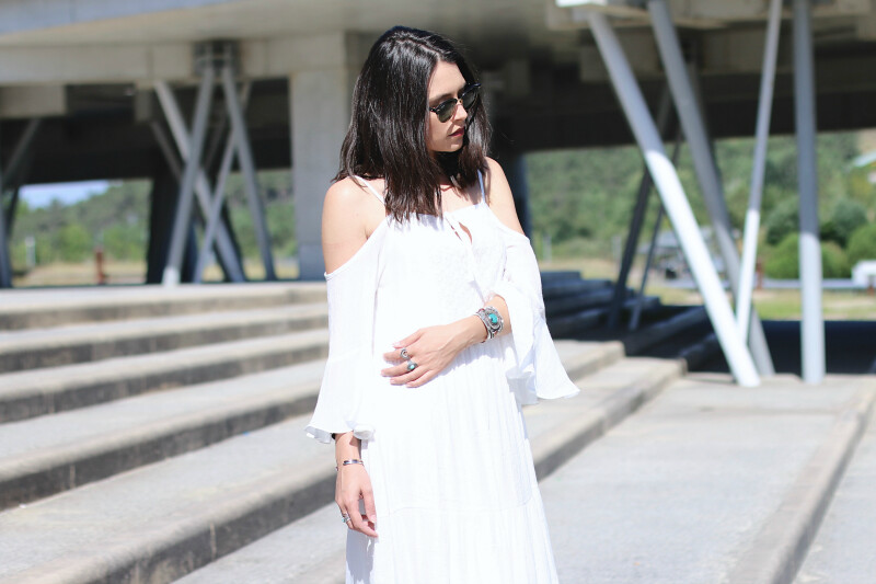 vestido ibicenco blanco