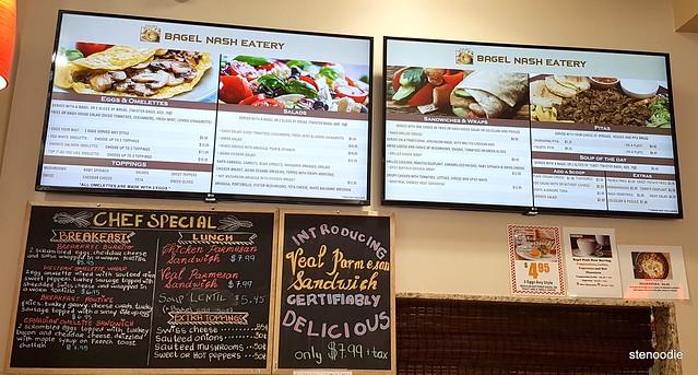 Bagel Nash North York menu