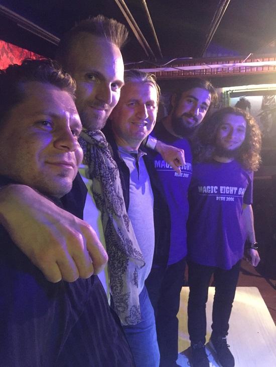 The Mahzen crew in Edirne, Turkey, May 2017 (photographer unknown)