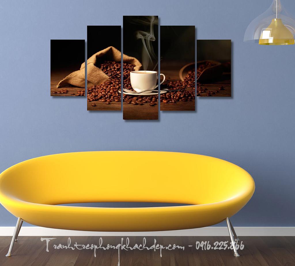 Buc tranh cnavas kho lon tach cafe con hop trang tri nha hang AmiA