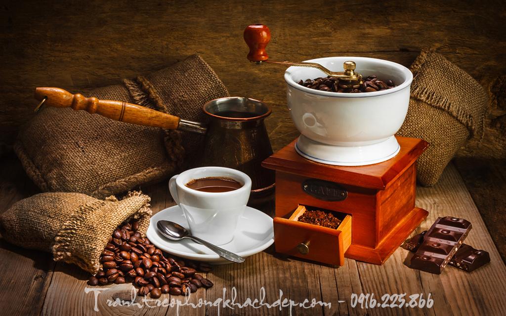 Coi xay cafe duoc lay y tuong thiet ke tranh trang tri quan cafe dep an tuong