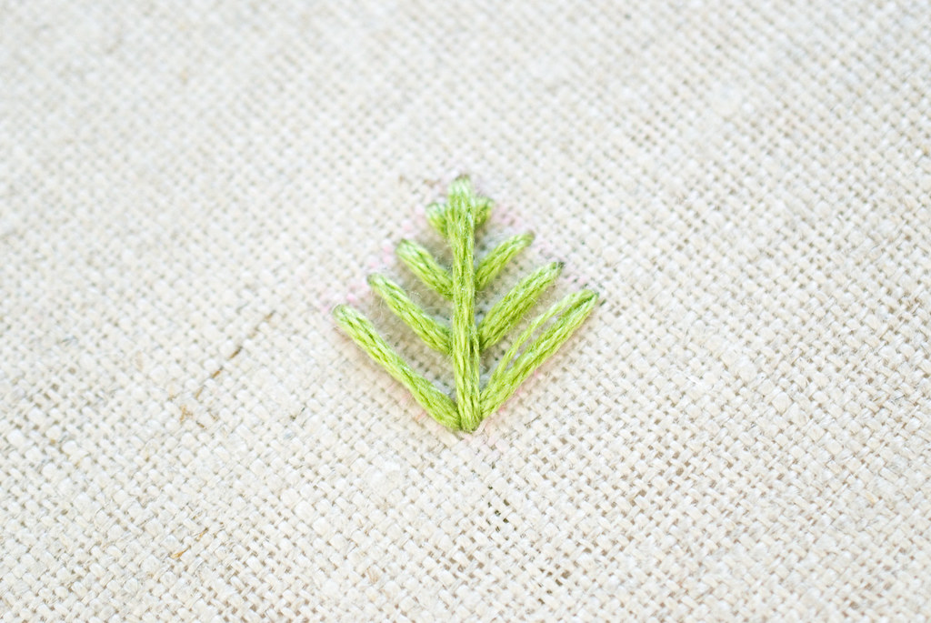 Foliage Stitch Pineapple Embroidery