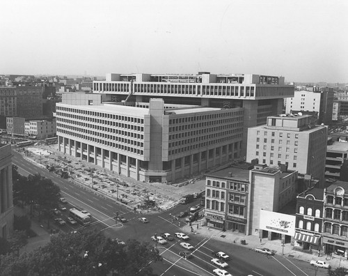 Photograph of View of J. Edgar Hoover FBI Building from National Archives Roof | by The U.S. National Archives