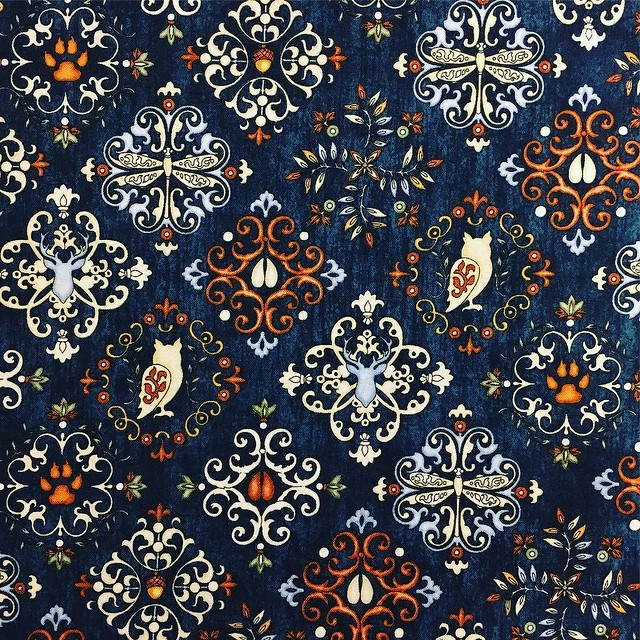 Backing fabric for the quilt. I ❤️ it! Going to put the final borders around the front tomorrow and then drop it off to be professionally finished.