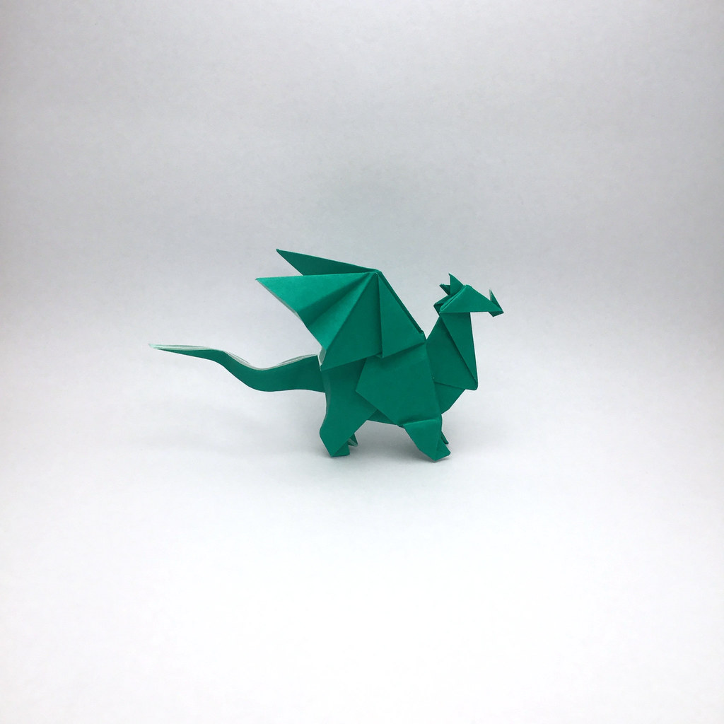 Origami Dragon Designed And Folded By Mindaugas Cesnaviciu
