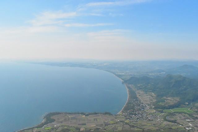 開聞岳9合目からの海の展望