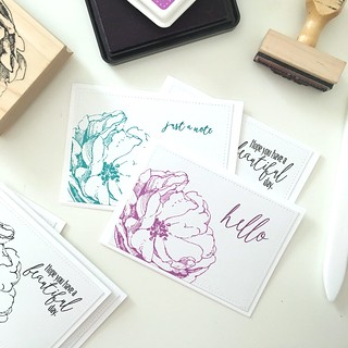 Antique rose note cards | by Kimberly Toney