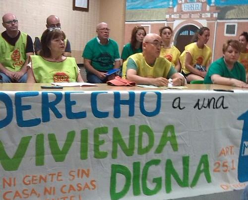 Rueda de prensa colectivos de vivienda sobre la campaña de desahucios