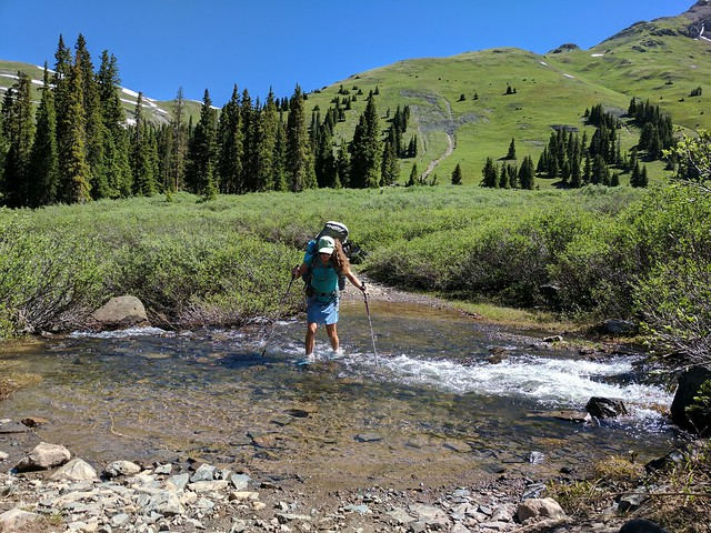 Crossing Deer Park creek