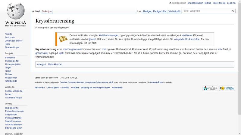 kryssforurensing wiki