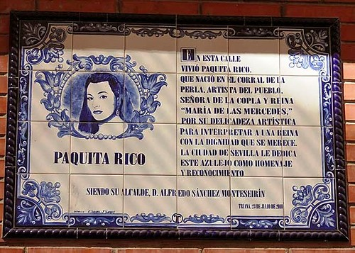Placa-Paquita-Rico | by Triana al día
