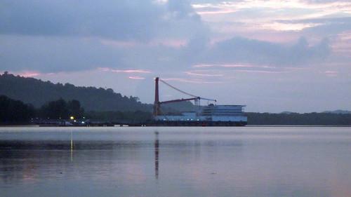 Works at Pengerang, Johor opposite Beting Bronok