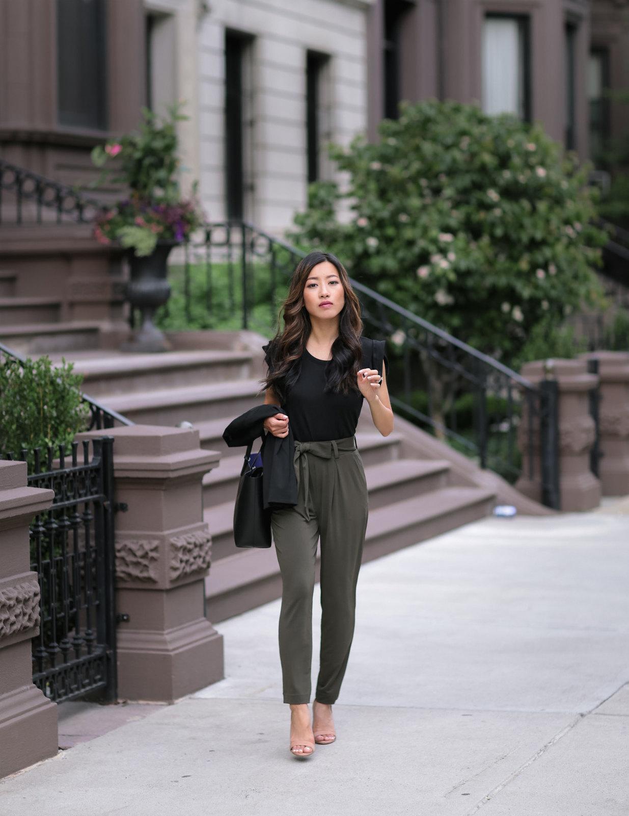 peg crop ankle pants boston petite fashion blog