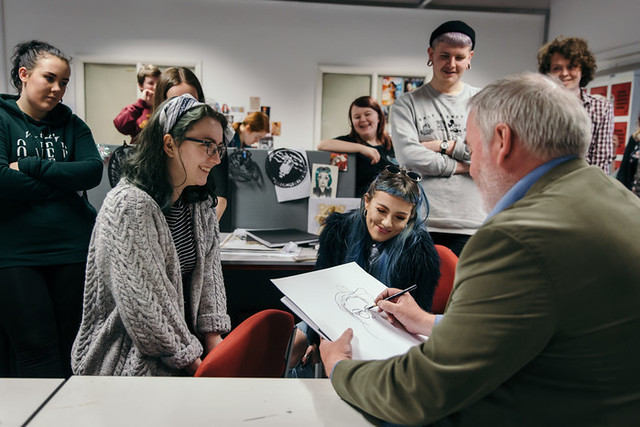 Outgoing Children's Laureate Chris Riddell visits Hull School of Art and Design © James Mulkeen