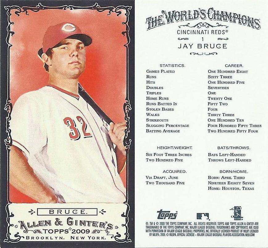 2009 Topps Allen Ginters Mini Black Border Baseball Card