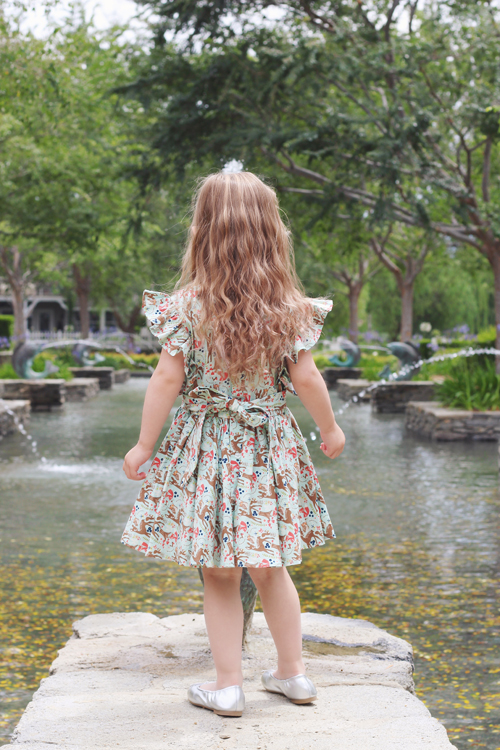 Lil' Lou Lou Jivin' Skirt in Princess of the Forest Gianna Dress in Princess of the Forest