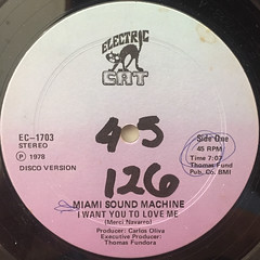MIAMI SOUND MACHINE:I WANT YOU TO LOVE ME(LABEL SIDE-A)