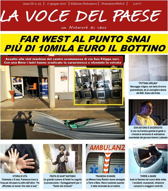 Noicattaro. Prima pagina n. 23-2017 intero