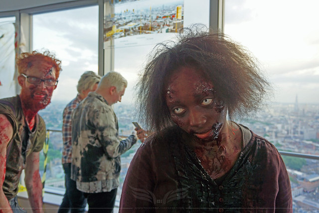 The Establishing Shot: FEAR THE WALKING DEAD LAUNCH – ZOMBIE WALKERS ATTACK BT TOWER