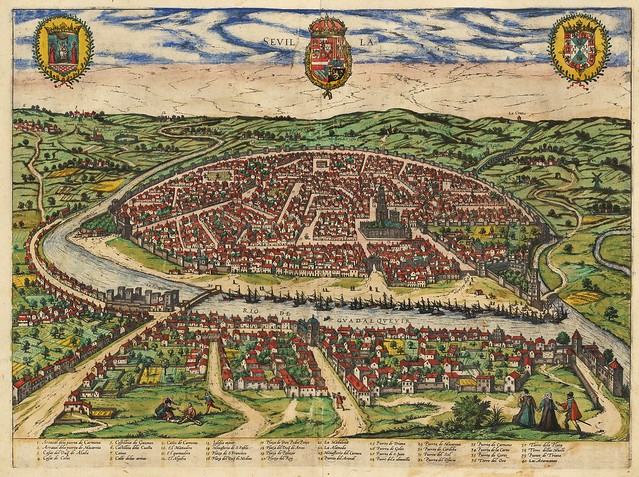 Georg Braun & Franz Hogenberg - Sevilla (1588)