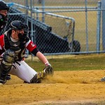 Jackson Darnell behind plate (photo submited)