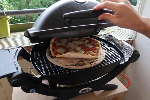 Pizza Margherita (im Grill)
