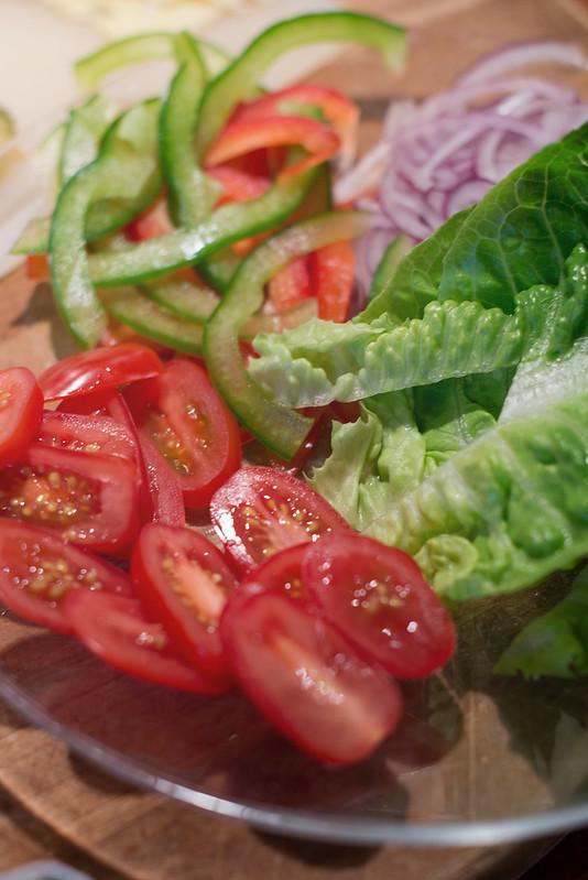 hamburger grønnsaker