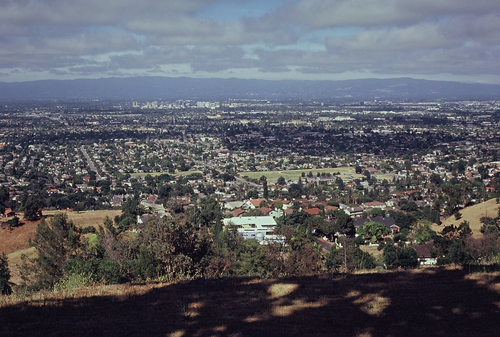 Expired Film Shot Of San Jose From The East Foothills