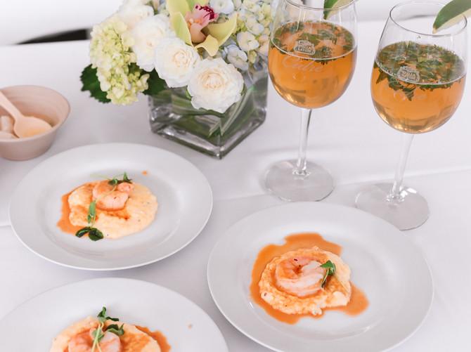 stella artois cidre brunch shrimp grits