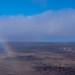 Kilauea Volcano and rainbow, Hawaii island