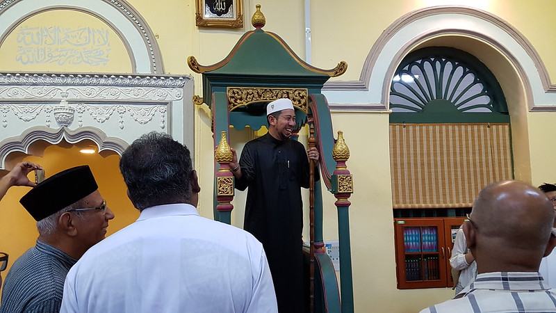 Interfaith walk along Street of Harmony and Buka Pusa at Acheen Street Mosque in Penang on 22 June 2017