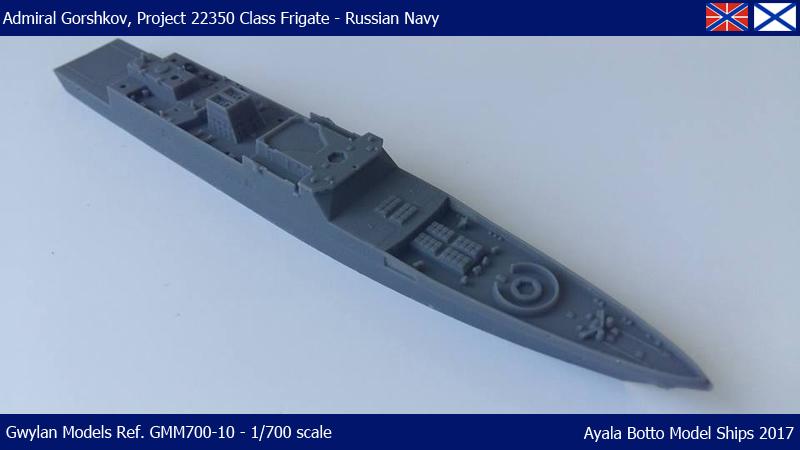 Frégate Gorshkov 417, Projet 22350 - Gwylan Models 1/700 35321736186_1da1efd506_o